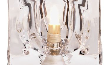 Argos Home Cuba Glass & Chrome Touch Table Lamp