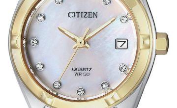 Citizen Ladies Multicoloured Stainless Steel Bracelet Watch