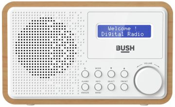 Bush Wooden DAB Radio - White