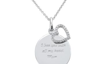 Moon & Back Sterling Silver Mum Pendant Necklace