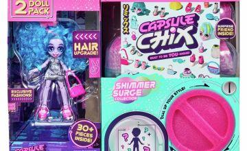 Capsule Chix Shimmer Surge Besties 2 Doll Pack – Blue