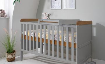 Tutti Bambini Rio Cot Bed with Mattress and Changer - Grey