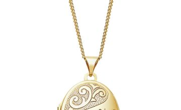 Moon & Back Silver 'Nan' 2 Photo Locket  Pendant Necklace