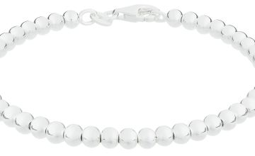Revere Italian Sterling Silver 4mm Beaded Bracelet