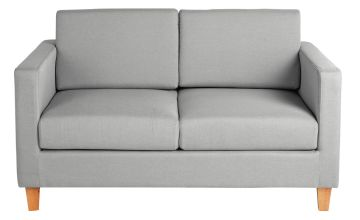 Argos Home Rosie 2 Seater Fabric Sofa - Light Grey