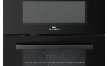 New World NWLS60DEB Double Oven Electric Cooker - Black