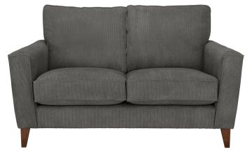 Argos Home Berlin 2 Seater Fabric Sofa - Charcoal