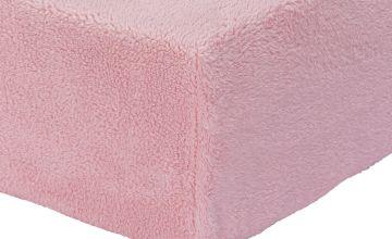 Argos Home Fleece 28cm Fitted Sheet
