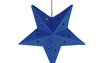 Argos Home Star Hanging Easyfit Shade - Blue