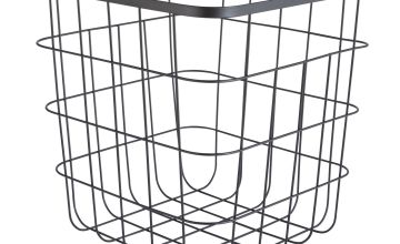 Argos Home Flat Wire Squares Storage Basket - Black