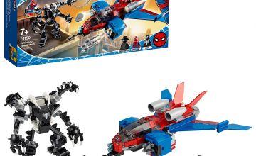 LEGO Marvel Spider-Man Jet vs. Venom Mech Playset - 76150/t