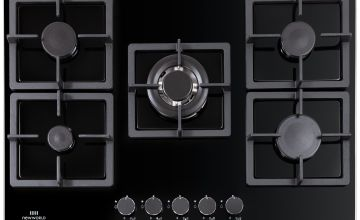 New World NWLEG75 Cast Iron Support Gas Hob - Black