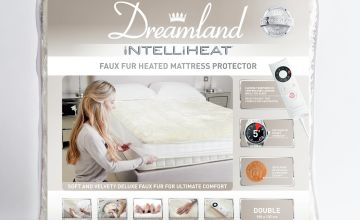 Dreamland Intelliheat Faux Fur Mattress Protector - Single