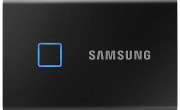 Samsung T7 Touch 2TB Portable SSD Hard Drive - Black