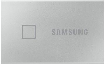 Samsung T7 Touch 1TB Portable SSD Hard Drive - Silver