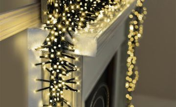 Premier Decorations 16.2m LED Multi Cluster Lights - White