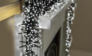 Premier Decorations 10m 2000 LED Multi Cluster Lights -White