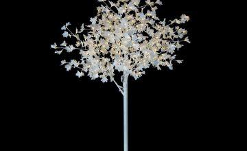Premier Decorations 8.2ft Pre-lit LED Maple Tree - White