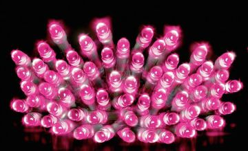 Premier Decorations 10m 200 LED Multi Function Lights - Pink
