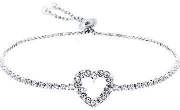 Disney Silver Mickey Mouse Heart Friendship Bracelet
