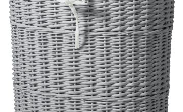 Argos Home Willow 60 Litre Oval Linen Bin - Grey