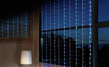 Premier Decorations 10m LED Waterfall Curtain Light - Multi
