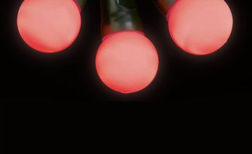 Premier Decorations 5m LED Pearl Berry Multi Lights - Red
