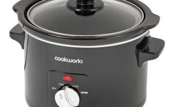 Cookworks 1.5L Compact Slow Cooker - Black