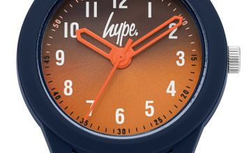 Hype  Navy Silicone Strap Watch