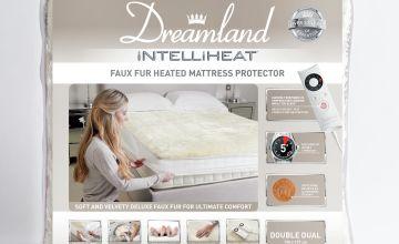 Dreamland Intelliheat Faux Fur Mattress Protector - Double