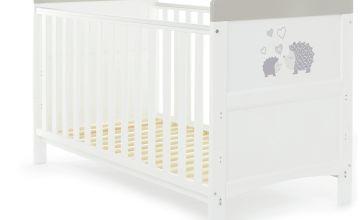 Obaby Hedgehog Baby Cot Bed - Grey