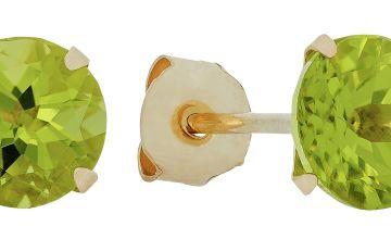 Revere 9ct Yellow Gold 5mm Peridot August Stud Earrings