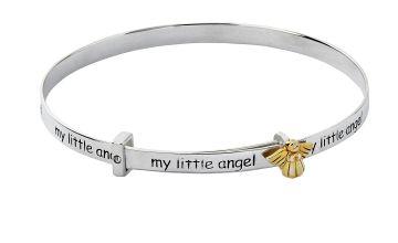 Revere Kid's Sterling Silver 'My Little Angel' Bangle