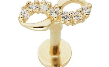 State of Mine 9ct Yellow Gold Cubic Zirconia Infinity Labret