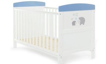 Obaby Hedgehog Baby Cot Bed - Blue