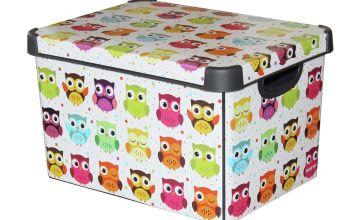 Curver Plastic Deco Box - Owl
