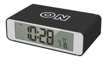 Precisions Flip Alarm Clock - Black