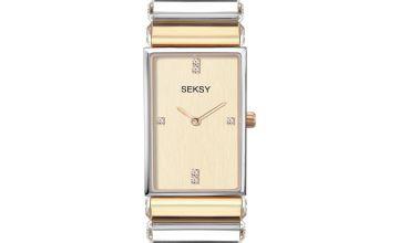 Seksy Edge Ladies Two Tone Bracelet Watch