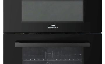 New World NWLS60TEB 60cm Twin Electric Cooker - Black