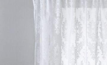 Argos Home Damask Net Pencil Pleat Curtain