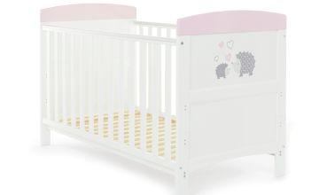 Obaby Hedgehog Baby Cot Bed - Pink