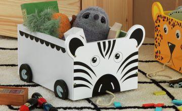 Argos Home Zebra Toy Storage Buggy
