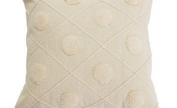 Argos Home Tufted Spot Handwoven 50x50cm Cushion