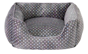 Spotty Square Pet Bed - Small