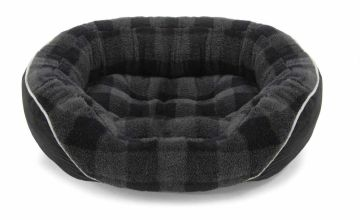 Checked Oval Pet Bed - Large