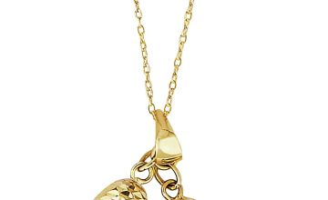 Revere 9ct Gold Heart Multi Charm Pendant Necklace