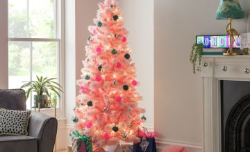 Argos Home 6ft Cashmere Artificial Christmas Tree - Pink