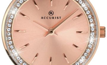 Accurist Ladies Rose Gold Plated Stainless Steel Watch