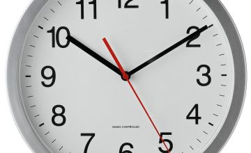 Argos Home Radio Controlled Wall Clock - Silver