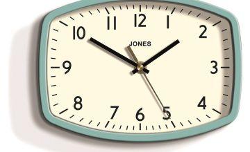 Jones Sketch Retro Wall Clock - Blue